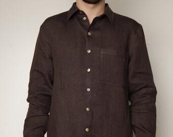 Pure Linen Classical Shirt For Men