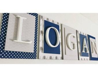 Nursery Name Sign, Boys Name Decal, Boys Name Letters, Wall Letters for Nursery, Nursery Wall Decor, Nursery Wall Art, Decorative Letters