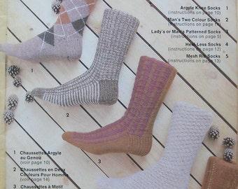 Vintage Patons Family Sock Knitting Pattern Book