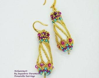 Donatella Earrings Tutorial Instant Download