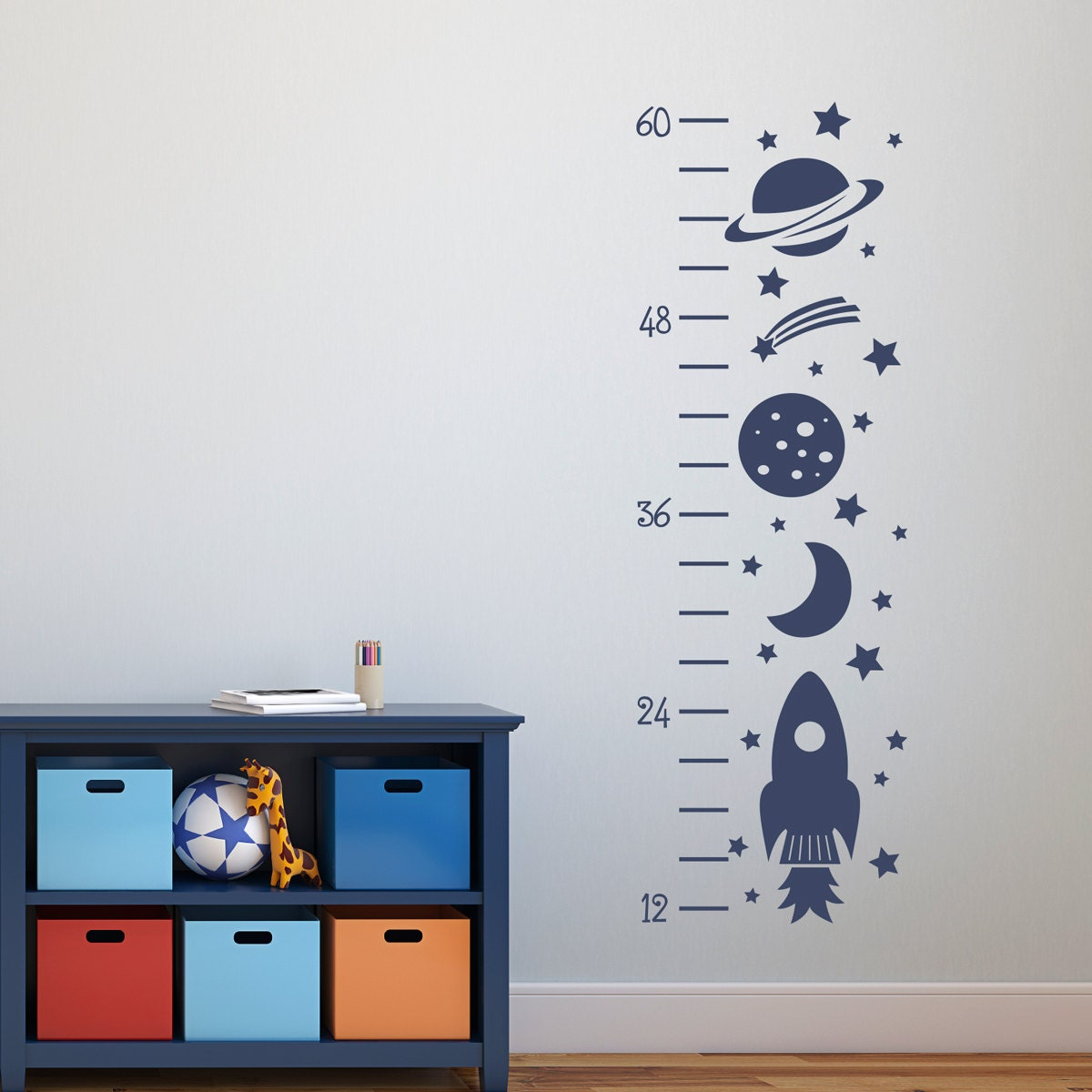 Rocket growth chart decal outer space decor wall decals zoom geenschuldenfo Image collections