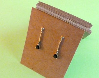 100 earring cards chipboard cards product display earring display jewelry display blank earring cards kraft card recycled craft supplies