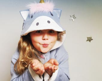 Wild Things Magical Unicorn pattern costume coat jacket for children