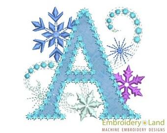 Ice Princess Applique Letter M Frozen Cloth Decor Applique