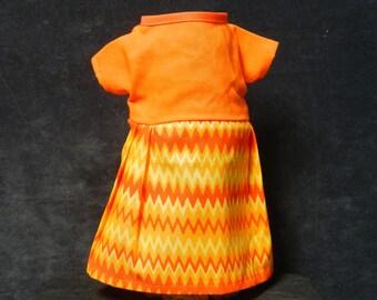 Rag Doll Dress - Orange Stripe
