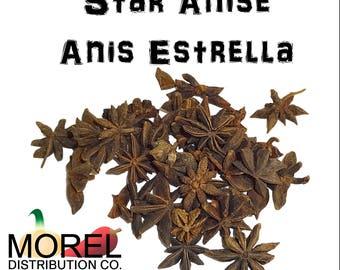 Star Anise Seeds or Star Anise Pods (Anis Estrella) (2 oz, 4 oz, 6 oz, 8 oz, 12 oz, & 15 oz)