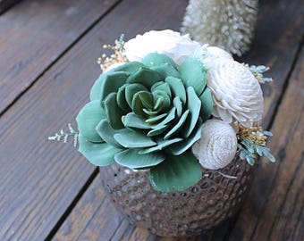 Sola Flower Arrangement, Faux Succulents, Sola Flowers, Wedding Centerpiece, Baby Shower, Bridal Shower, Birthday Flowers, Home Decor