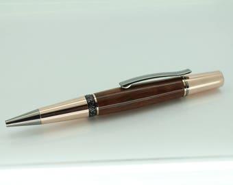 Hand made Amboyna Burr Ballpoint pen (Parker Style)