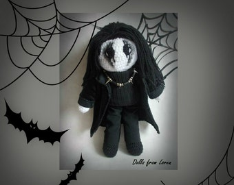 Gothic Crochet Doll Portrait Doll Personalized gift from Loren Ver Will be made JUST FOR YOU