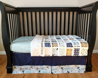 Vintage Air Plane Crib Set