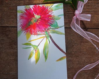 Australia Flower,Fine Art Card,Big Greeting Card With Envelope ,Watercolor Painting Art Card