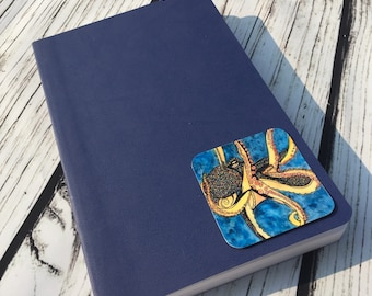 "Octopus Genius - Nautical Inspired Watercolor Painting -  2.5"" Sticker"