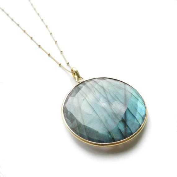 Large Round Labradorite Necklace