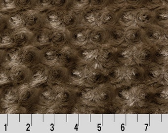 Mocha - Rose Cuddle by Shannon Fabrics - by the Half Yard or Yard - Retired Color