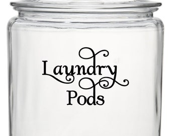 """LAUNDRY PODS  5"""" x 3.5"""" Vinyl Decal Sticker - Detergent Pod Mud Room Cleaning *Free Shipping*"""
