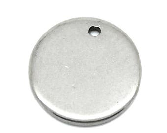 Round 10mm stainless steel pendant slide.