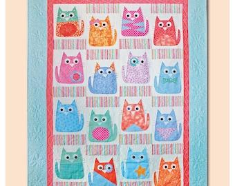 Copycats – Cats Quilt Pattern – Machine Applique Quilt Pattern