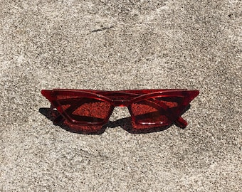 Red Square Cat Eye