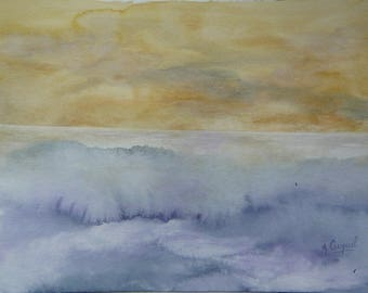 The sea - original watercolor painting