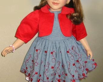 "My Twinn Dress Pattern - Sewing pattern for 23"" doll - Dress, Jacket, Slip - doll clothes PDF 80004"