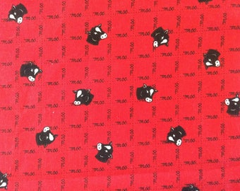 FABRIC: COWS  by Fabric Traditions  1 Yard