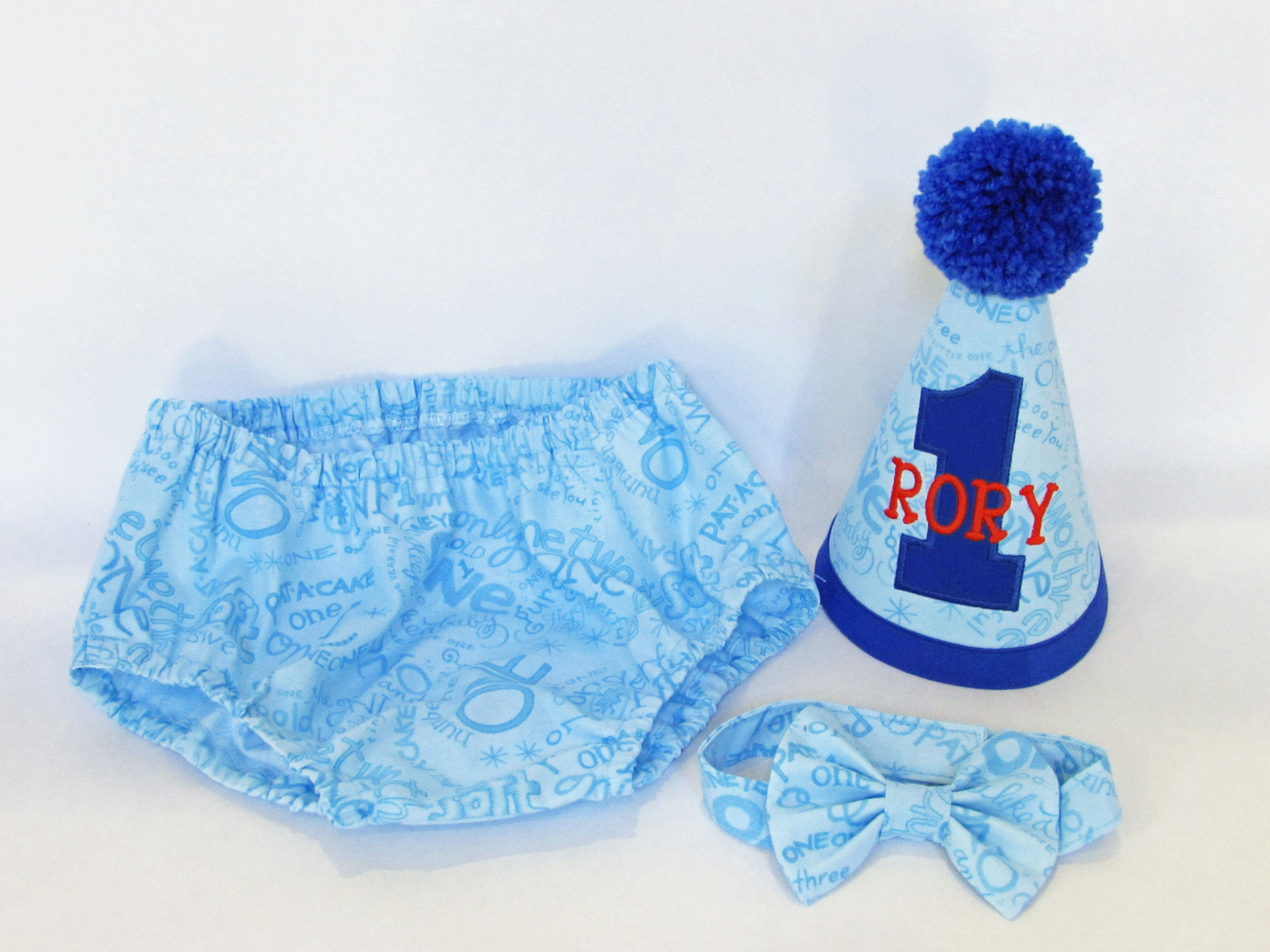 Onederland Boys Cake Smash Outfit Blue First Birthday Set 1st