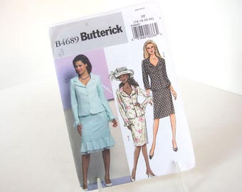 UNCUT Sewing Pattern for Jacket and Skirt, Butterick 4689 Sizes 16, 18, 20, 22, Bust 38 - 44