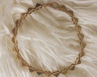 Gold Vintage Choker - Gold Heart Choker Necklace