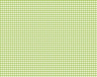 "Green Gingham Small 1/8"" Riley Blake Designs C440-30 Green Cotton Quilting Fabric - FWM"