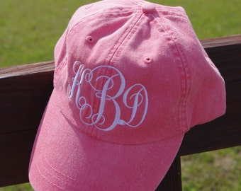 Monogrammed Hat - Custom Embroidered Baseball Cap