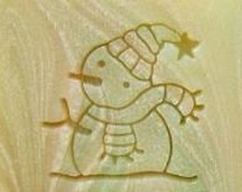 Snowman Resin stamp Soap Stamp seal stamp custom soap stamp soap making Resin Crafts