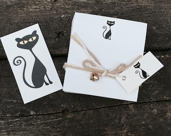 Black Cat Note Cube