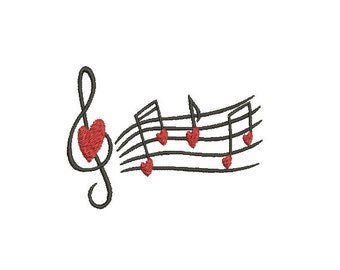 Machine Embroidery Design Instant Download - Love Song
