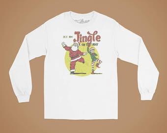 Jingle On That Beat Long Sleeve Christmas T-shirt