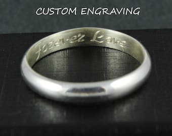 Ring engraving | Add-on engraving | Wedding ring engraving | Custom engraving | Professional engraving | Inside ring engraving