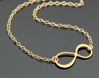 Gold INFINITY Necklace.