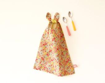 Large bib, floral reversible bib, pink, yellow bib, flowers, bow ties, XL bib,  yellow, handmade bib, baby shower, for baby girl