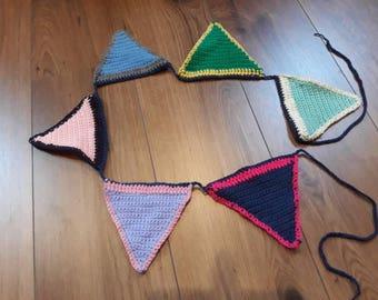 Crochet Multicolor Flags Slinger