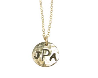 3 Initial Personalized Charm Necklace