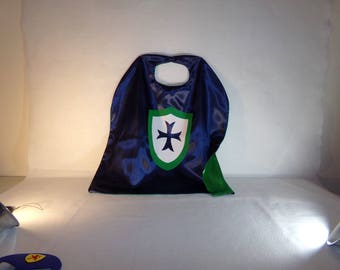 Knight cape, cape and mask, children's capes, party favors