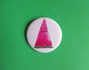 Watermelon 25mm Pinback Badge