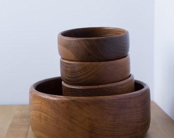 Salvaged Wooden Bowls//Natural Kitchen Supplies//Vintage Wood Bowls//Home