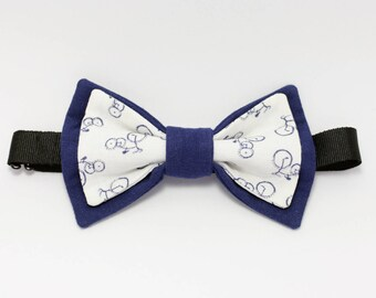 "Bow tie blue and white bicycle ""Biclou"""