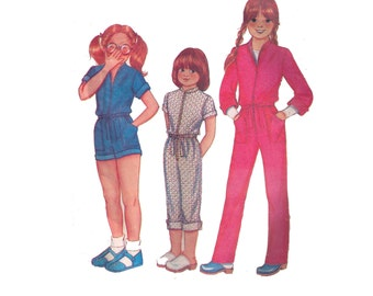 McCall's 6934, 80s sewing pattern, size 12 girl's jumpsuit pattern, overalls pattern, collared romper