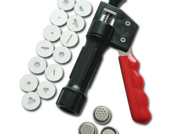 16 Design Discs Sugarpaste Extruder, Sugarcraft Gun, clay extruder