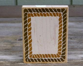 Destash Posh Impressions Rubber Mounted Wood Stamp Rope Frame