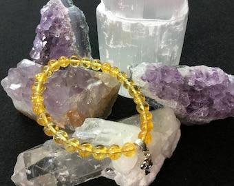 Natural Citrine Beaded Bracelet