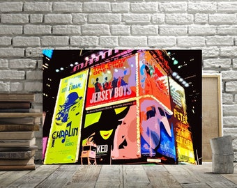 Broadway, Times Square Wall Decor, Print Or Canvas, Broadway Musical Art,  Wicked