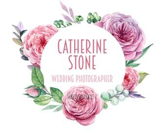 Flowers Photography Logo | Blog header | Watercolor