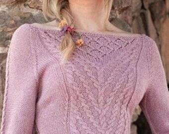 Pink sweater in soft Merino Wool / order